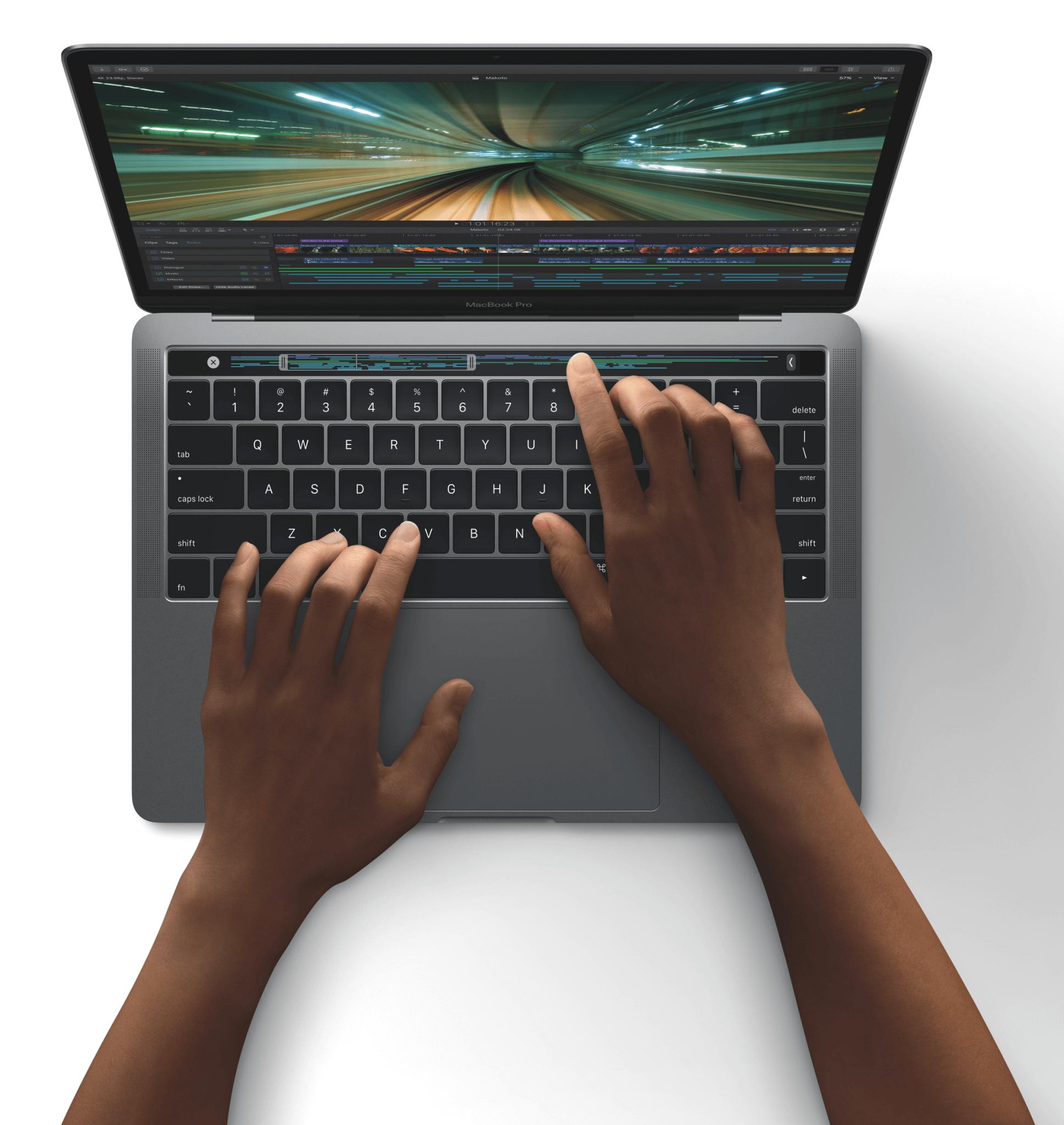 Final Cut Pro X wurde für die Touch Bar des MacBook Pro 2016 angepasst (Bildrechte: Apple)