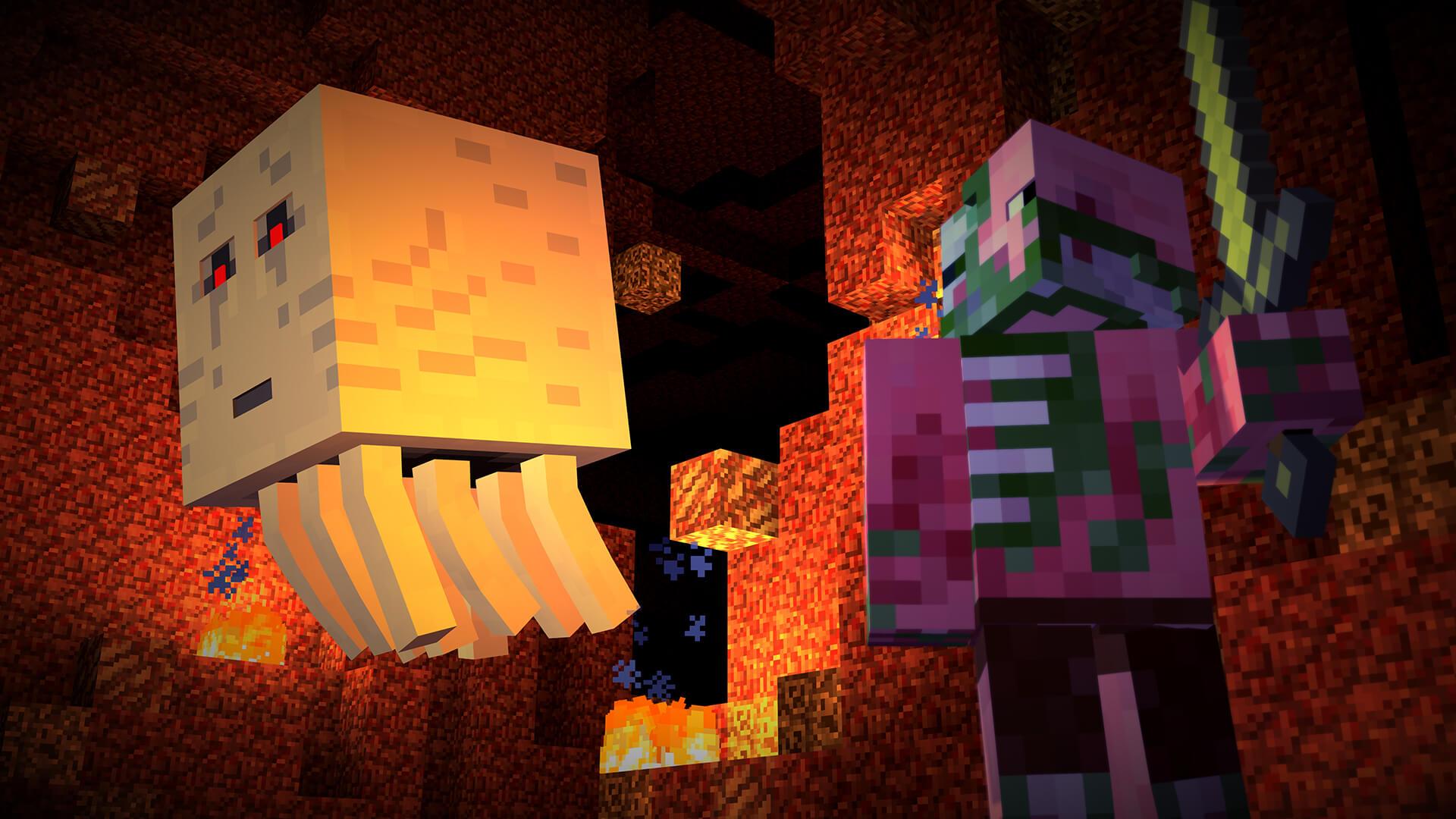 Minecraft: Story Mode: Gast und Pigman (Bildrechte: Telltale Games)