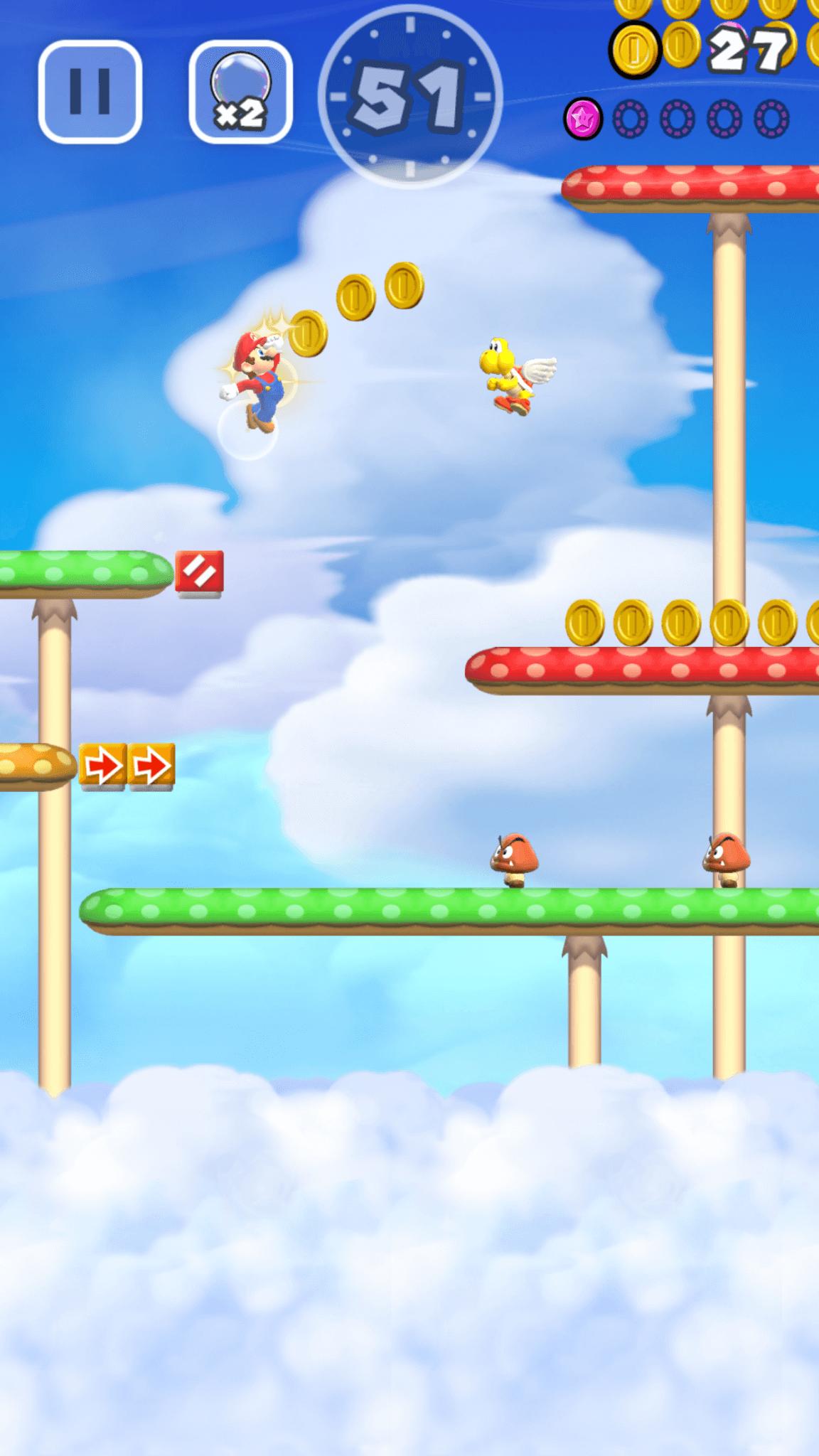 Super Mario Run: Ist es ein Vogel? Ist ein Flugzeug? Nein, es ist Super Mario! (Bildrechte: Nintendo)