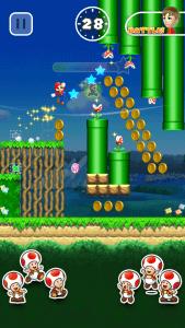 Super Mario Run: Die kleinen Pilzköpfe bilden Marios Fanclub (Bildrechte: Nintendo)