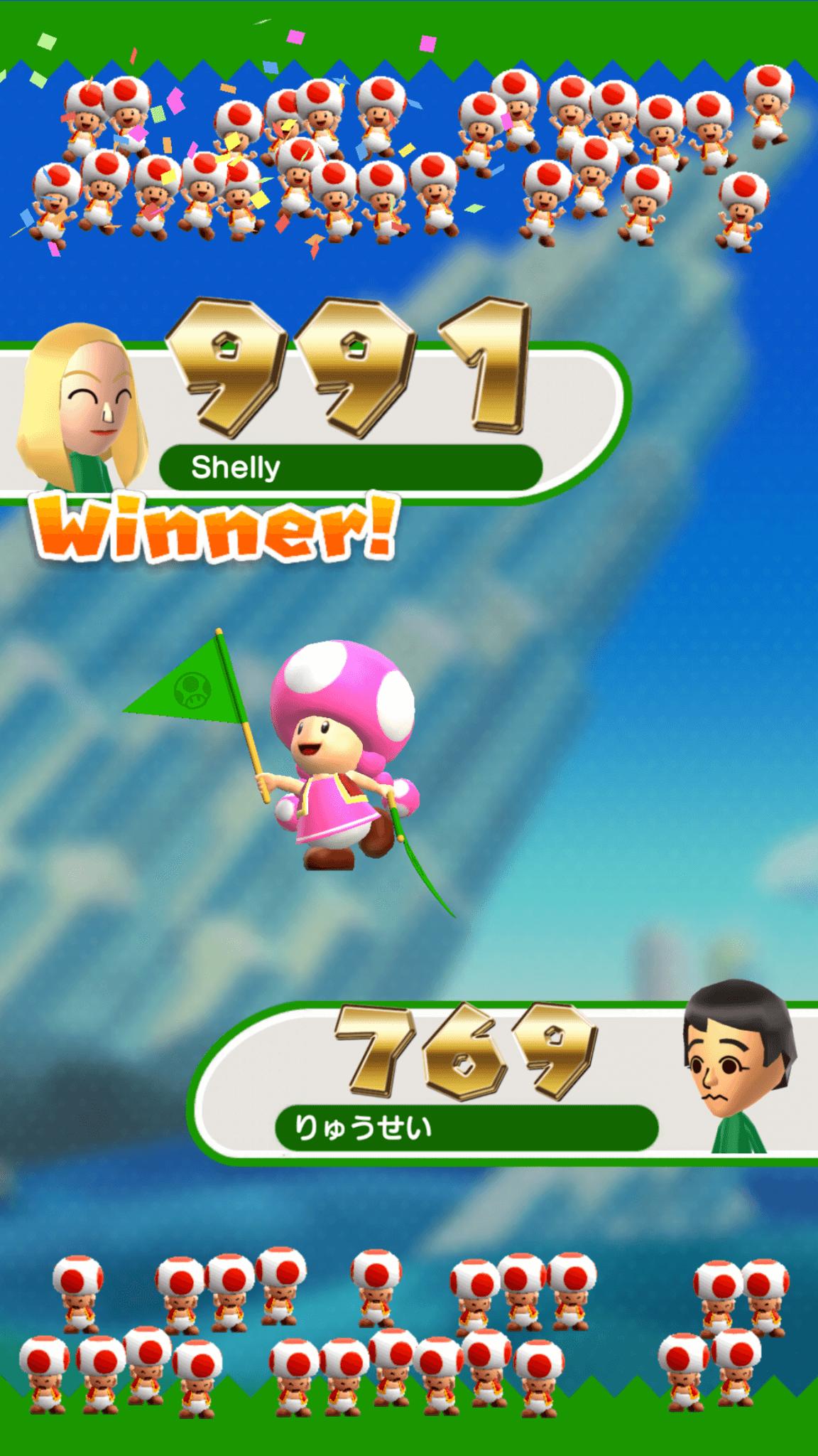 Super Mario Run: Wer hat die meisten Pilze, äh, Punkte? (Bildrechte: Nintendo)