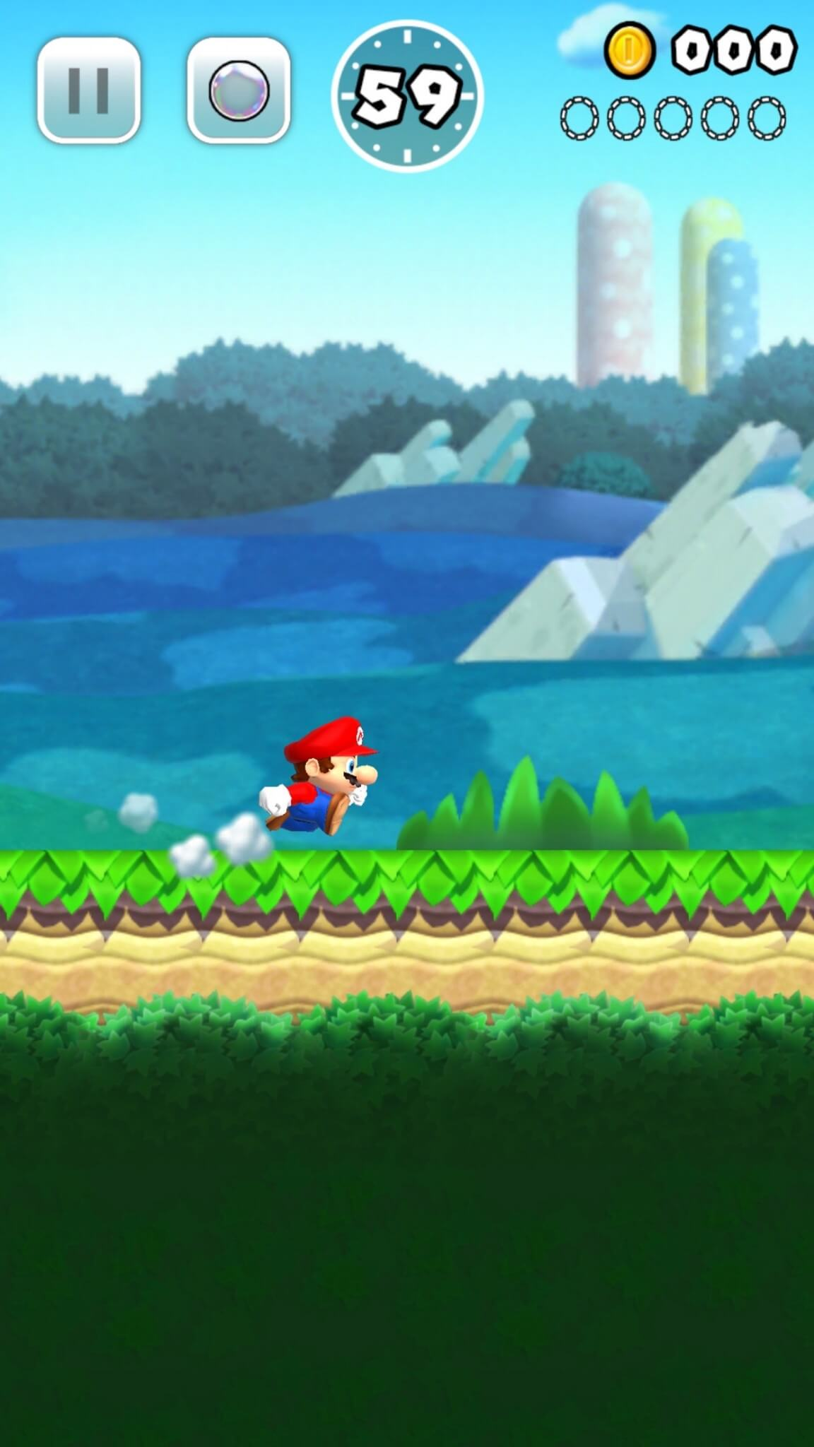 Super Mario Run: Mario unterwegs auf dem iPhone (Bildrechte: Nintendo)
