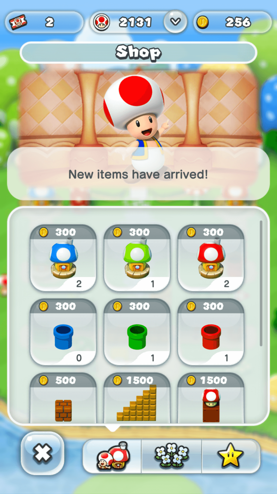 Super Mario Run: der In-Game-Shop (Bildrechte: Nintendo)