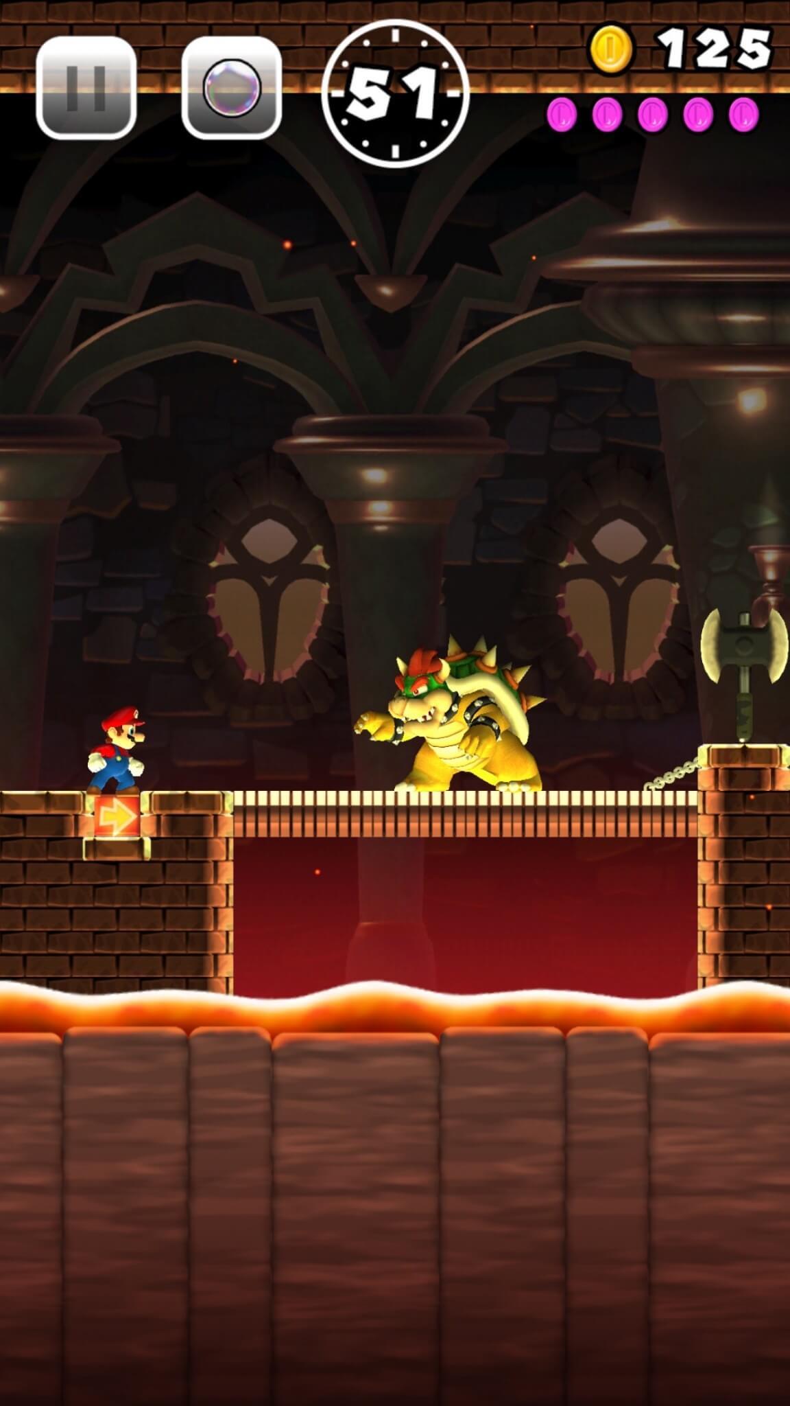 Super Mario Run: Natürlich trifft man auf den alten Widersacher Bowser (Bildrechte: Nintendo)