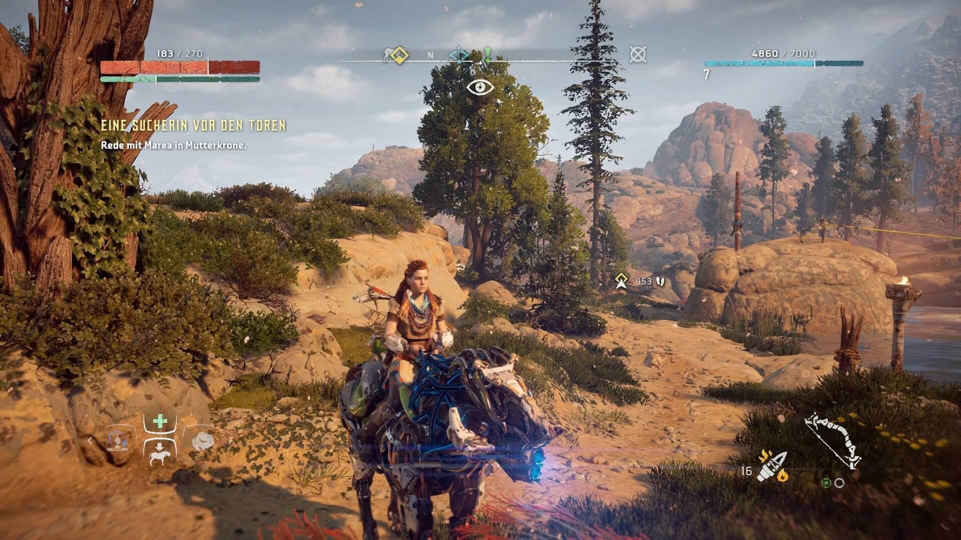 Das actionreichen Rollenspiel Horizon Zero Down gibt es nur für die PS4