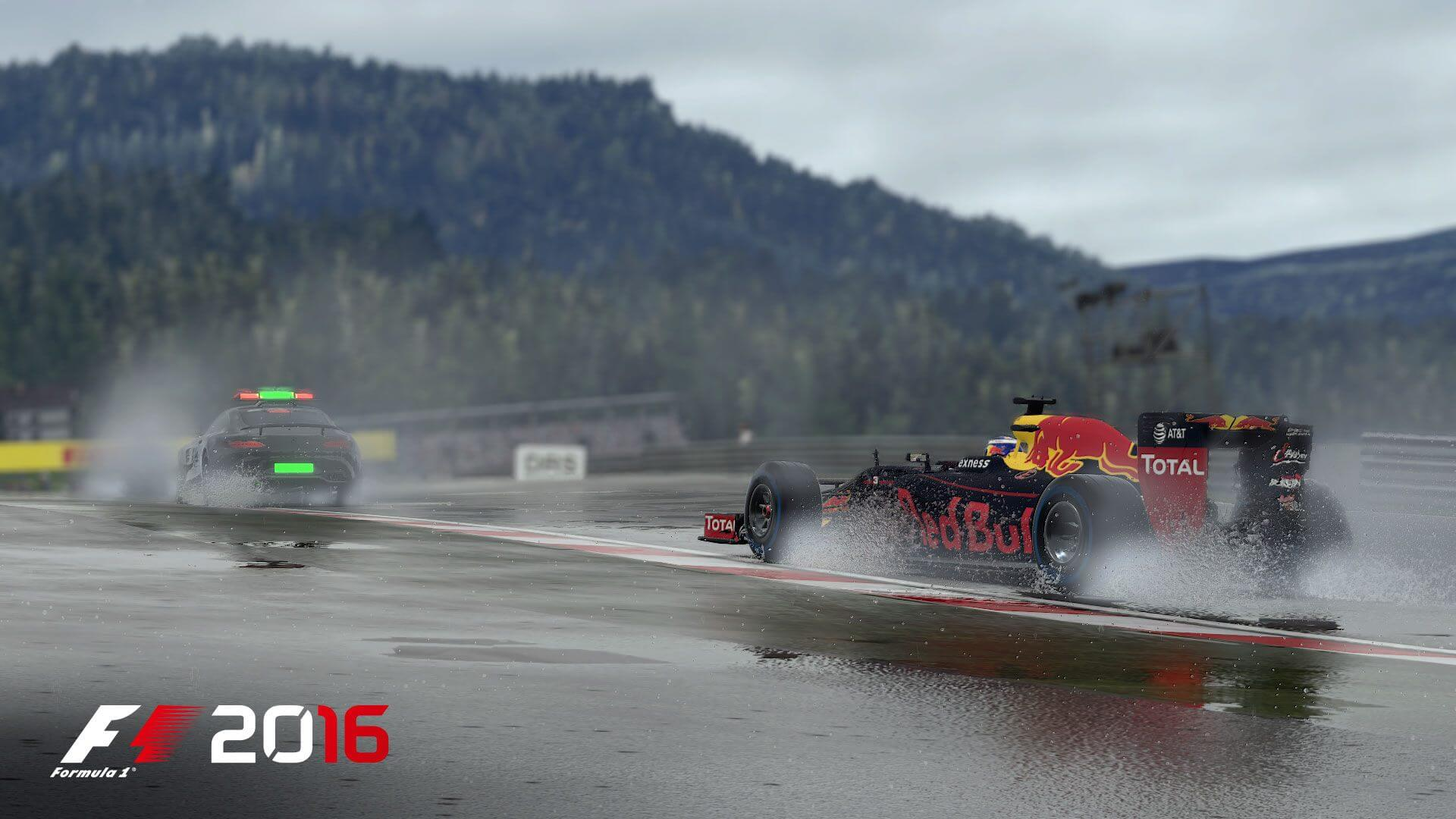 F1 2016: Das Safety-Car sichert die Rennstrecke (Bildrechte: Feral Interactive)