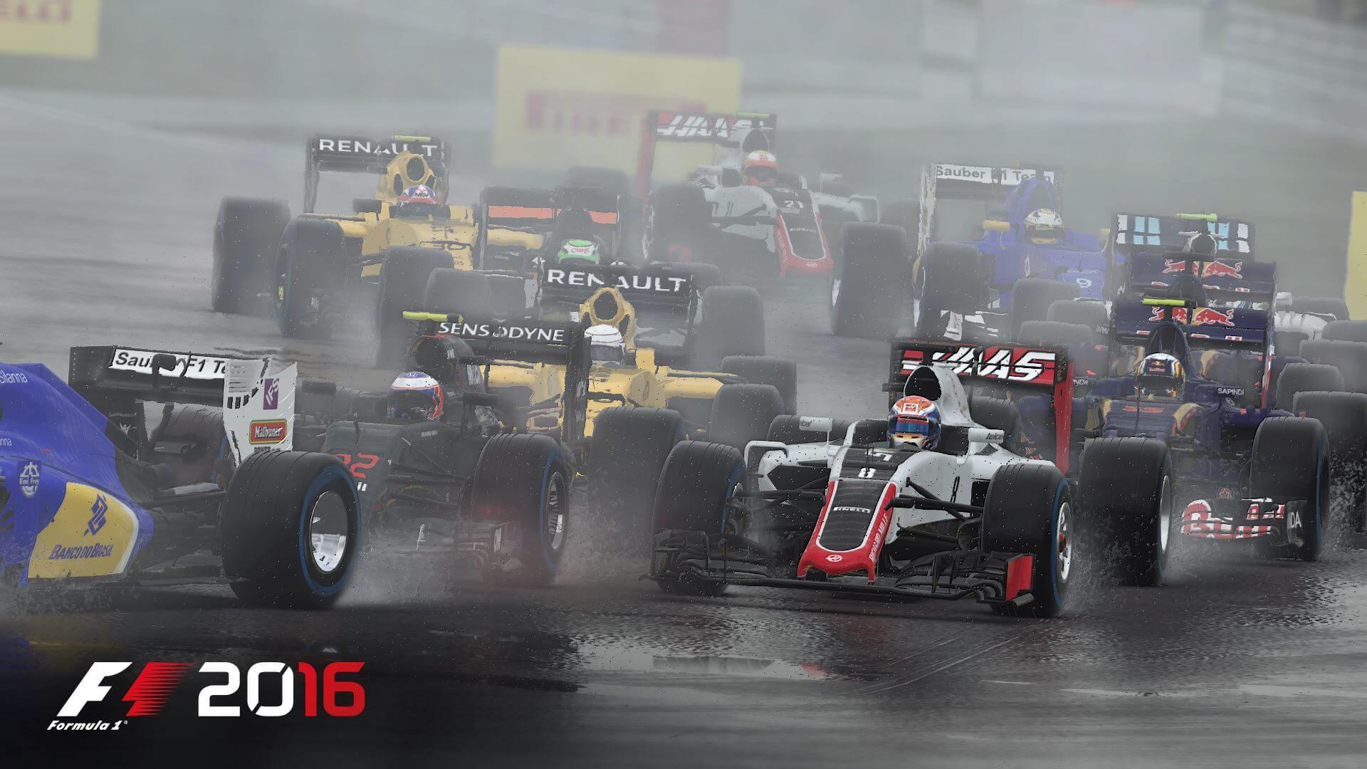 F1 2016: Gedränge im Regen (Bildrechte: Feral Interactive)
