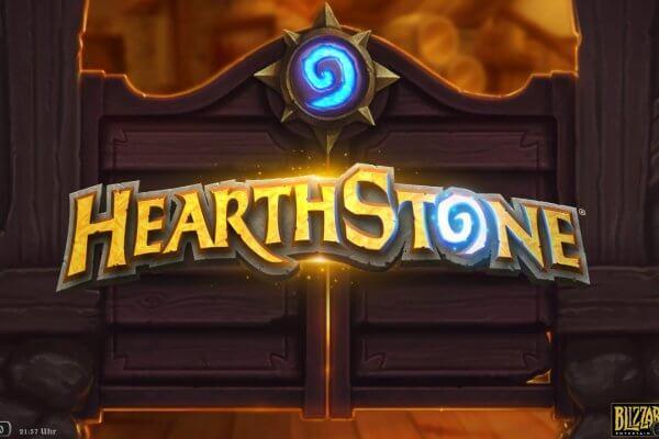 Titelbildschirm von Hearthstone (Mac-Version)