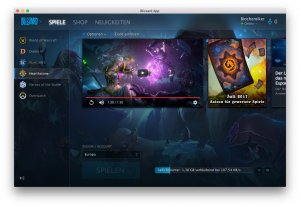Hearthstone lässt sich auf em Mac über die Blizzard-App installieren
