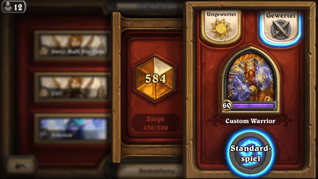 Hearthstone (iPhone-Version): auf dem Weg zur Top 500 (Screenshot: Christian Pech)