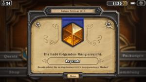 """Hearthstone (iPhone-Version): Wer den Rang """"Legende"""" erreicht, gehört zu den Top-Spielern (Screenshot: Christian Pech)"""