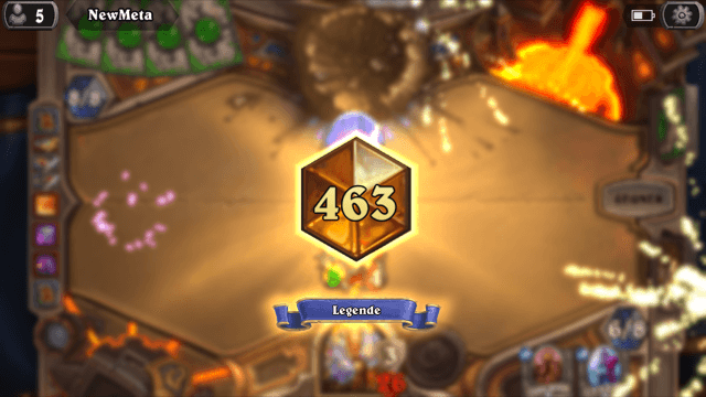 Rang 463 bei Hearthstone erreicht (iPhone-Screenshot: Christian Pech)