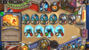 Hearthstone (iPhone-Version): So sieht ein Profikampf aus (Screenshot: Christian Pech)