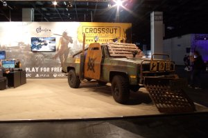 Gamescom 2017: am Crossout-Stand ein Auto des A-Teams würdig