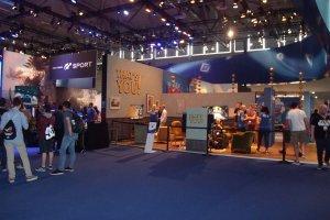 Gamescom 2017: Playstation-Stand am Fachbesuchertag