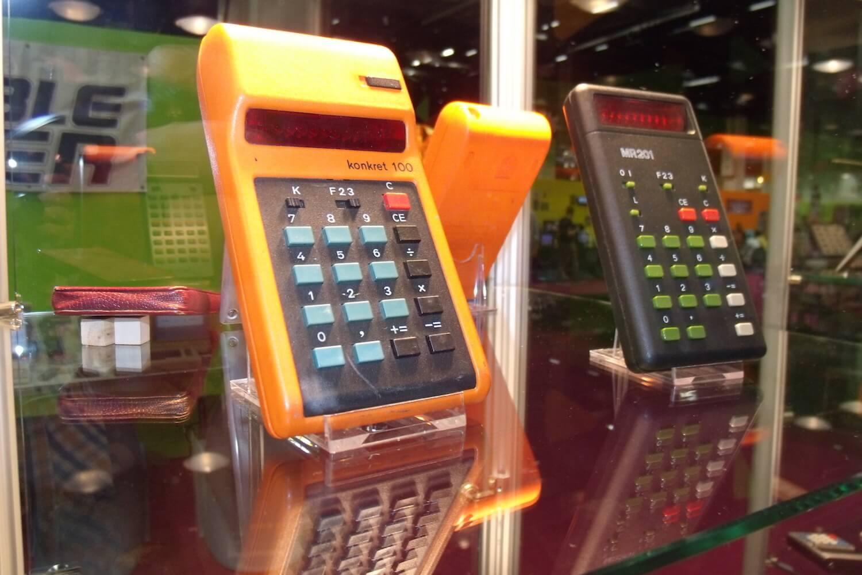 Gamescom 2017: Ausstellungsstücke im Retro-Bereich – Taschenrechner Aus der DDR von RFT/Robotron