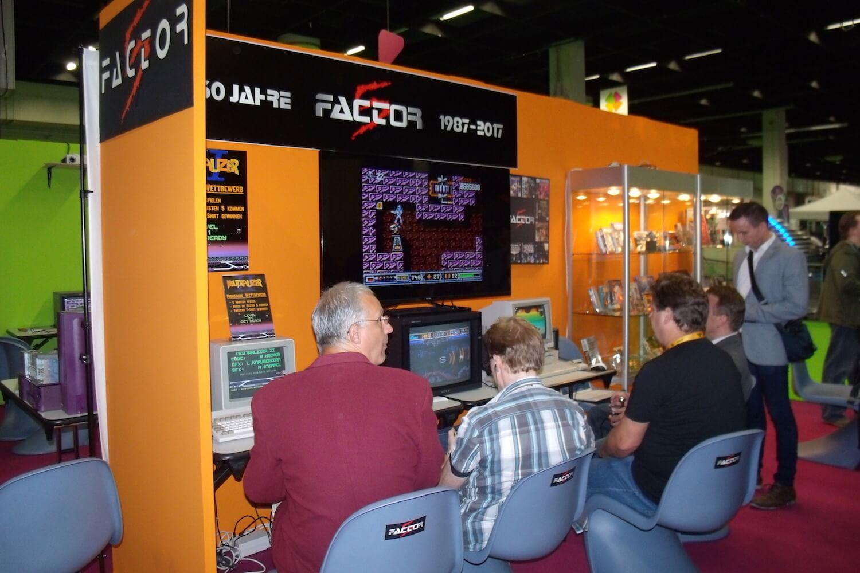 Gamescom 2017: Im Retro-Bereich gab es einen Stand des deutschen Entwickler-Urgesteins Factor 5