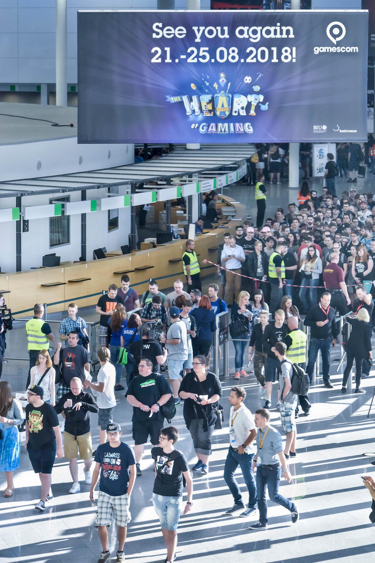 Gamescom 2017: Eingang Nord (Bildrechte: Koelnmesse GmbH, Thomas Klerx)