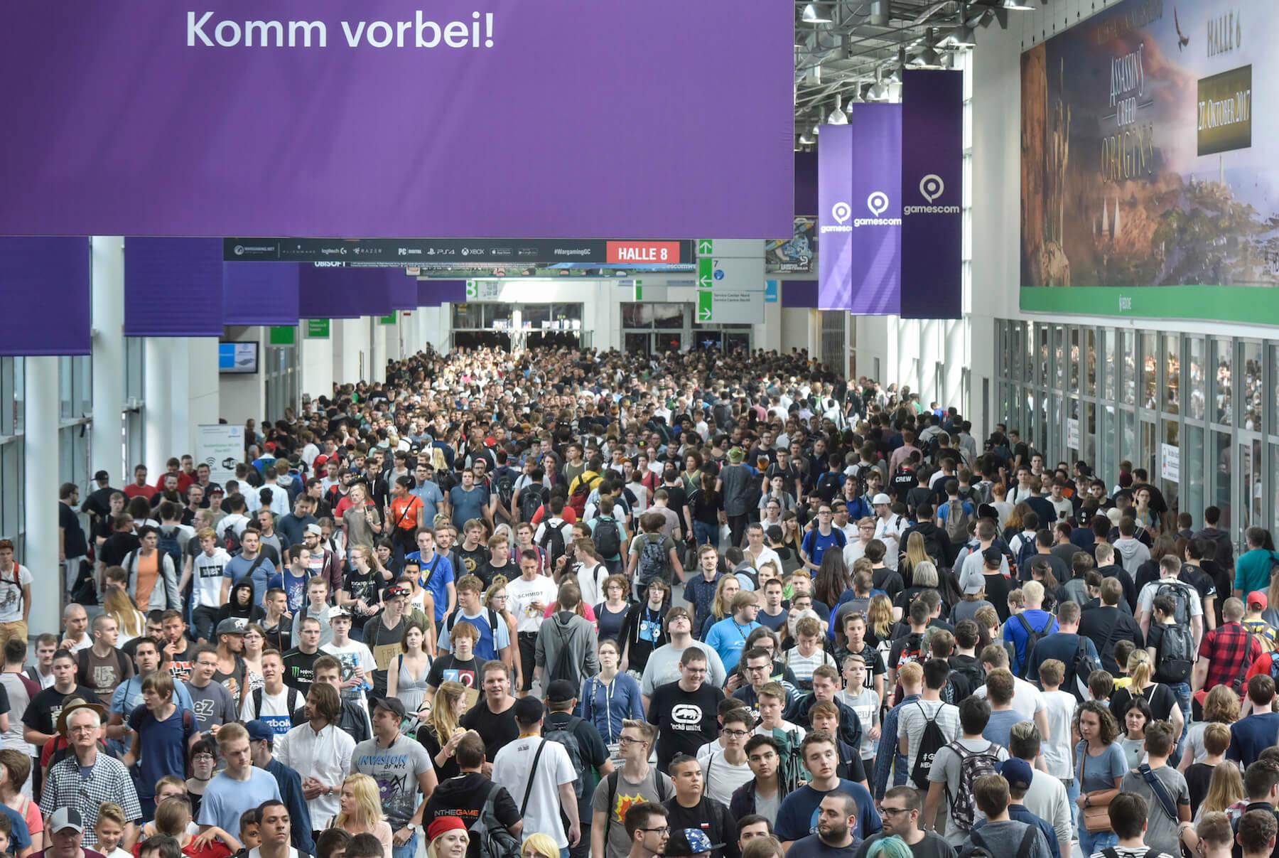 Gamescom 2017: Boulevard Nord (Bildrechte: Koelnmesse GmbH, Thomas Klerx)