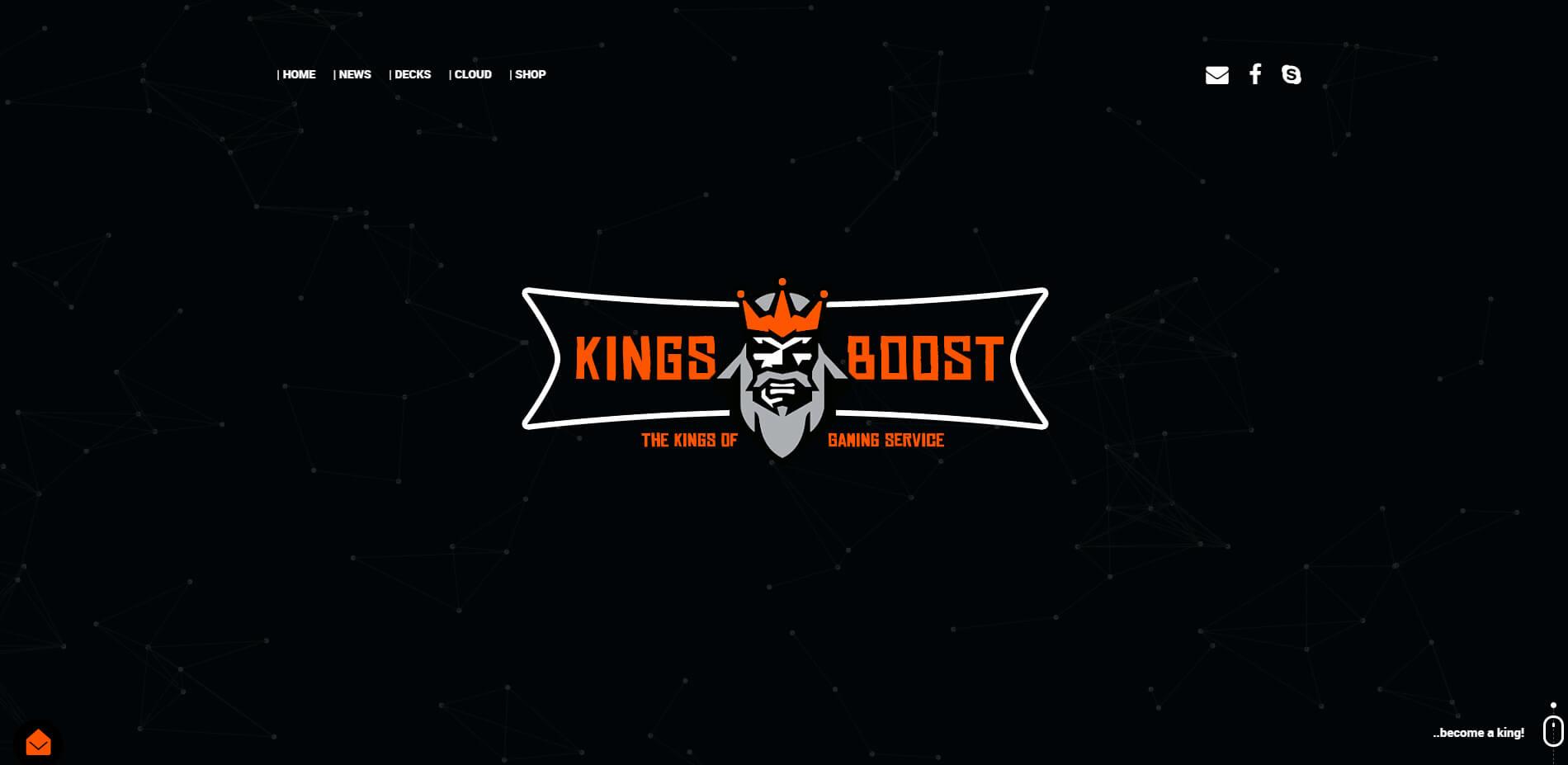 """Die Online-Plattform """"Kings-Boost"""""""