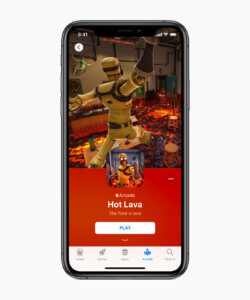 Apple Arcade: Hot Lava – einer der Start-Titel des Gaming-Service (Bildrechte: Apple Inc.)