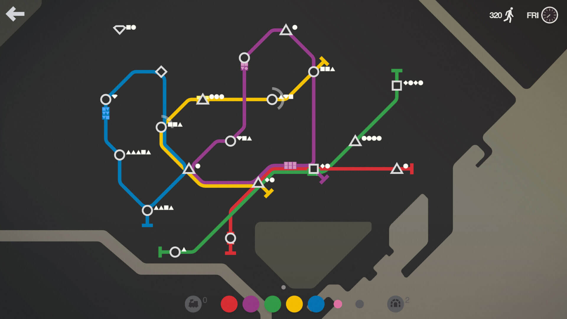 Apple Arcade: Mini Metro+ für iPhone, iPad und Mac (Bildrechte: Apple)